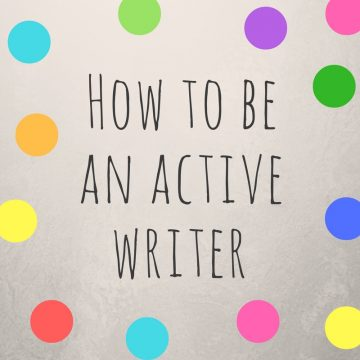 passive active writer author