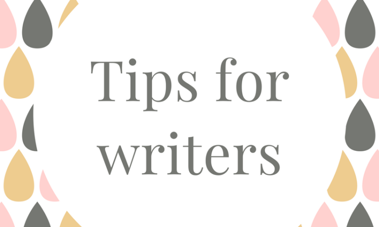 tips writers authors